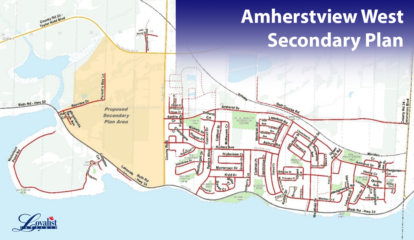 Map of Amherstview West area