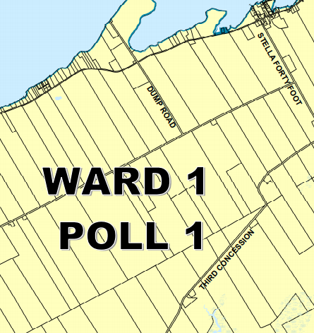 Amherst Island Ward Map