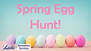 Spring egg hunt ad
