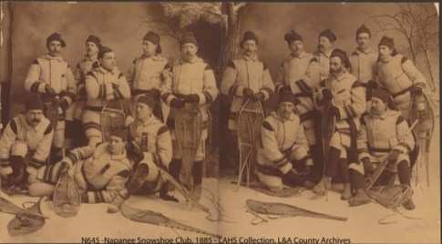 Napanee Snowshoe Club, 1885