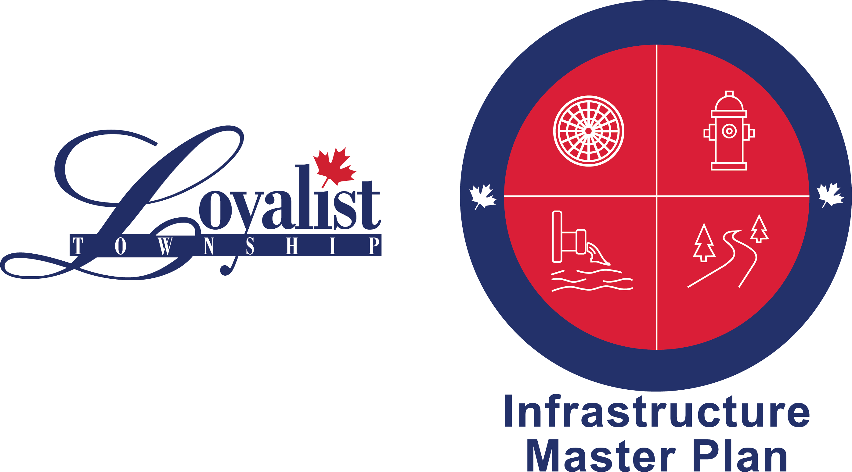 Infrastructure Master Plan Logo and Loyalist Township Logo side-by-side