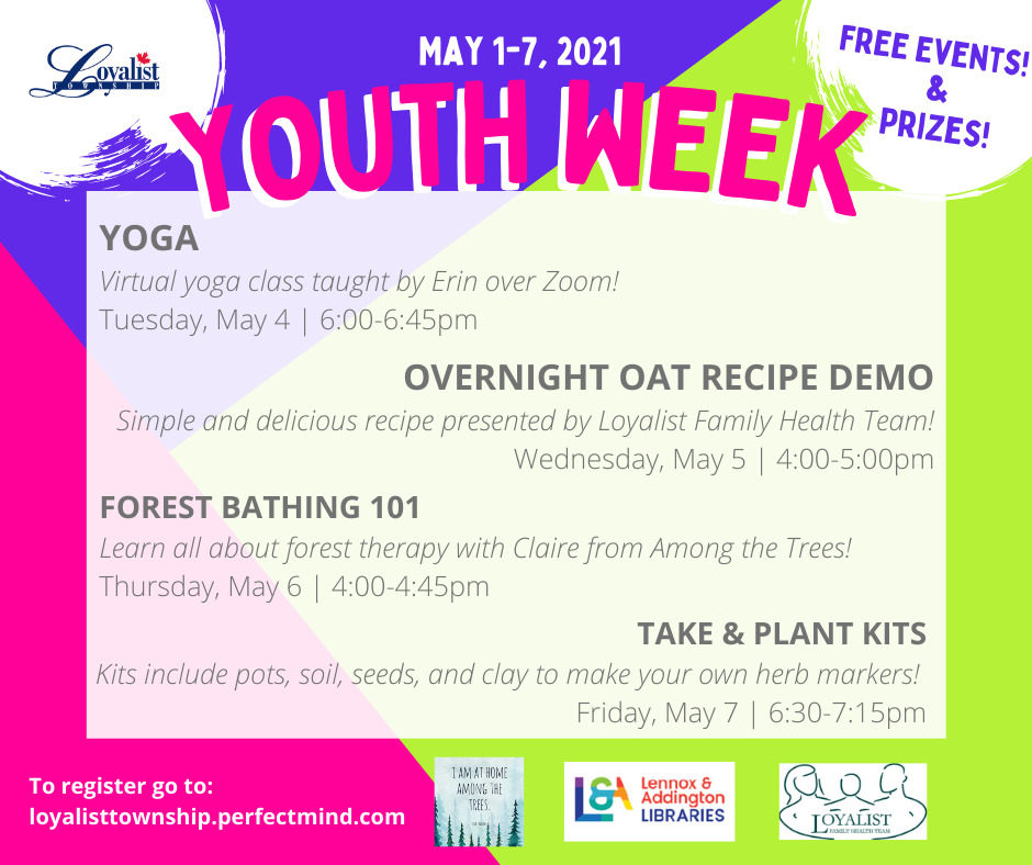 Loyalist Township Youth Week Flyer